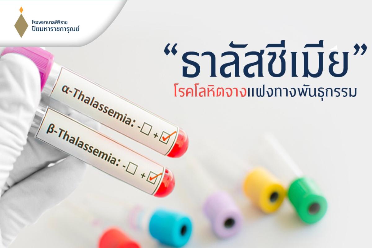 ธาลัสซีเมีย โรคโลหิตจางแฝงทางพันธุกรรม (Thalassemia)